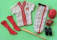 VINTAGE KEN PLAY BALL #792 BASEBALL CAP~GLOVES~CLEATS~RED COTTON SOCKS~BARBIE