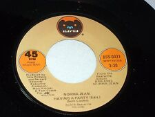 Norma Jean: Having a Party / So I Get Hurt Again  [Unplayed Copy]