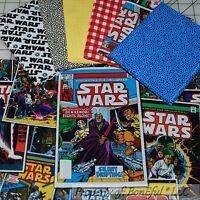 BonEful Fabric FQ Cotton Quilt BOY Star Wars LOT Red B&W Blue Super Hero Calico