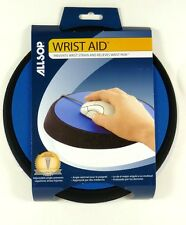 26226 ALLSOP Wrist Aid Circular Mouse Pad (Blue), Adjustable Angle
