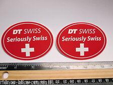 "TWO 3"" DT SWISS Rim Hub (Dirt MX RIDE BMX DH MTB Frame Bike DECAL STICKER rbz"