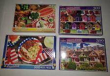 Cra-Z-Art 300 & 500 Piece Jigsaw Puzzles PuzzleBug Series Lot of 4!