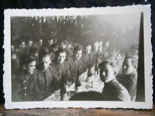 Photo argentique guerre 39 45 soldat Allemand wehrmacht WWII 2 banquet Russie