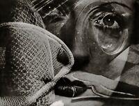1932/75 Vintage MAN RAY Surreal Woman Eyes Lydia Face Abstract Photo Art 11x14