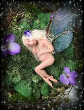 OOAK Pregnant Nest Fairy Faerie Fae WITW Whispers in the Woods Deborah McCain