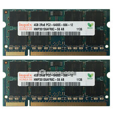 New Hynix 8GB 2x4GB PC2-6400 DDR2-800MHz Non-Ecc 200pin Sodimm Laptop Memory RAM