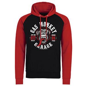 Official Licensed Gas Monkey Garage (GMG) Round Seal Baseball Hoodie S-XXL