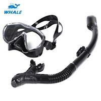 Swimming Scuba Pro Anti-Fog Goggles PVC Mask Dive Diving Glasses Dry Snorkel Set
