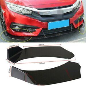 2PACK Car Front Bumper Lip Splitter Body Side Spoiler Protector Universal ABS