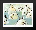 Penguin Pips 24x20 Black Wood Framed Art Print by Svjetlan Junakovic