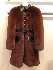 sonia rykiel Vegan Long Bugundy Fur Coat 36