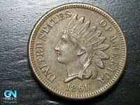 1861 Indian Head Cent Penny  --  MAKE US AN OFFER!  #B7446