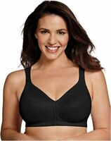 Playtex Women's 18 Hour Front Close Wirefree Back Support, Black, Size 36B smVo