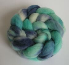 Roving Wool top hand painted 4 oz dyed spinning felting fiber Columbia knitting