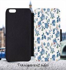Floral Alice in Wonderland Leather Flip Wallet Phone Case For iPhone & Samsung