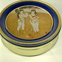 Vintage Tin The swiss colony Old world cookies Two Circus girls Limited Edition