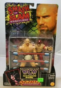 WCW WWF Smash 'N Slam Goldberg Wrestling Figure Toy Biz 1999 NIB