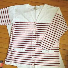 Nancy Heller Saks Fifth Avenue France Cotton casual summer sweater jacket XL