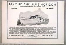 Eldredge-McInnis 112 ft Diesel Yacht Boat PRINT AD - 1948 ~~ Quetzal, Fairmile