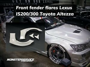 """Front fender flares """"Monsterservice"""" +40mm for Lexus Is200/300/Toyota Altezza"""