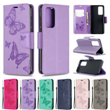Butterfly Wallet Leather Flip Case Cover For Huawei Y5P Y6P Y7P P40 Lite Y7 2019