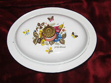George Briard Vintage Decorated Retro Dish Oval enamelware Casserole/lid flowers