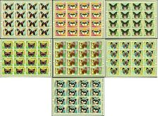 FAUNA_3436 1976 Guinea butterflies IMPERFORATE 7 SHEET MNH MLH Combined payments