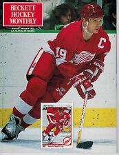 January 1991 Beckett Hockey Monthly Issue #3- Steve Yzerman Detroit Red Wings