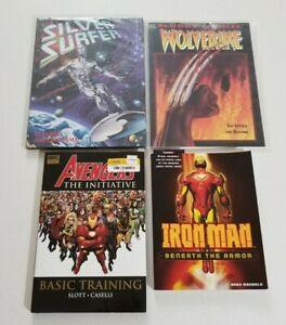 Lot of 4 Marvel Graphic Novel TPB Comic Books Iron Man Wolverine Avengers +MORE