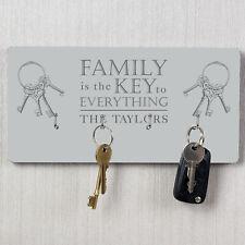 Personalised Family Key Holder Hooks Storage Wall Mounted Organizer Rack Hangers