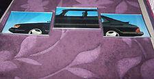 3 Bilder ergibt = 1 Auto,Pkw,Kfz,Limousine mit Siber Rahmen,42 cm X 32 cm