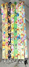 lot Cartoon pooh Neck Straps Key Chains Lanyard ID Holder
