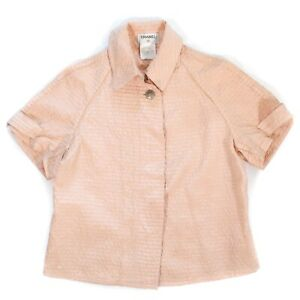 Chanel - 2001 Rare - Shirt Jacket Coat Blazer Pink Stripes - US 4 - 36 - 01C