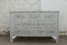 Sideboard Mother of Pearl 7 Drawer Gray Color Dresser