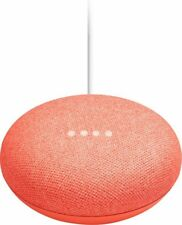 Google Home Mini Smart Speaker with Google Assistant - Coral | Brand New