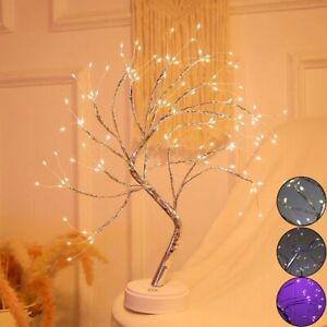 108LED Pearl Blossom Tree Bonsai Light Table Bedside Lamp Room Party Home Decor