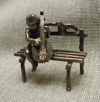 Antique Sterling Hanau Miniature Cherub & Lute - Berthold Mueller Chester 1898
