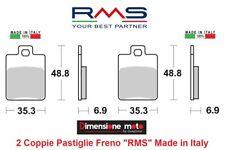 0300 - 2 Coppie Pastiglie Freno Anteriori RMS per PIAGGIO MP3 400 dal 2007 >2009