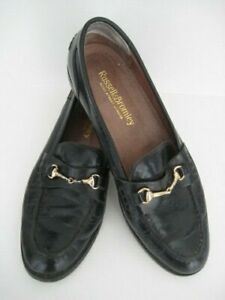 VINTAGE MENS RUSSELL AND BROMLEY LOAFERS LEATHER SOLES MADE IN ITALY HORSE BIT