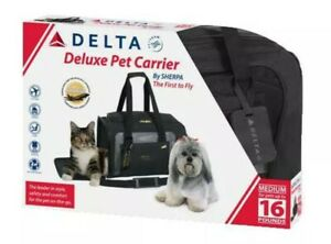 Sherpa Airline Approved Pet Carrier - Black - M - Dog Cat 16 lbs