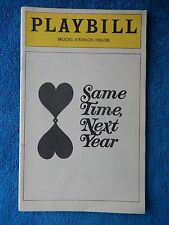 Same Time, Next Year - Brooks Atkinson Theatre Playbill - December 1975 - Swit