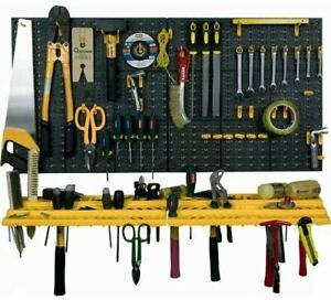 Garage Tool Rack Wall Kit Storage Tools Organiser Kit With 50 Assorted Hooks