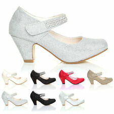 Satin Party Shoes with Hook & Loop Fasteners for Girls