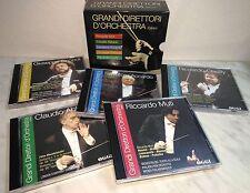BOX 5 CD GRANDI DIRETTORI D'ORCHESTRA - MUTI - ABBADO - ACCARDO - SINOPOLI - CHA