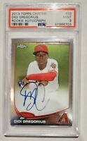 2013 DIDI GREGORIUS.AUTOGRAPHED ROOKIE TOPPS CHOME PSA/DNA CERTIFIED Mint 9