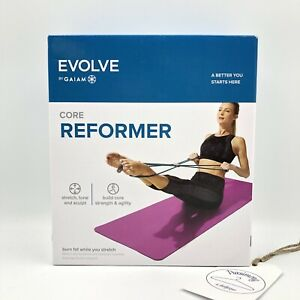 Evolve by Gaiam Core Reformer 4-loop Design Dual-Resistant Workout Tube/Band New