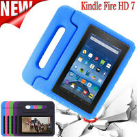 For Amazon Kindle Fire HD 7 Kids Shockproof EVA Handle Case PU Leather Cover LOT