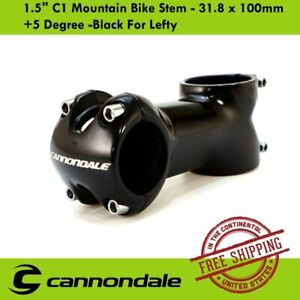 "Cannondale 1.5"" C1 Mountain Bike Stem - 31.8 x 100mm +5 Degree -Black For Lefty"