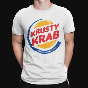 Krusty Krab T-Shirt - Spongebob - Retro -Funny -TV- American-Cartoon-Burger King