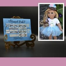 American Girl Doll Accessories Custom MERMAID Eyeliner Marie Grace Caroline Joss